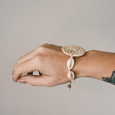 Woven Disk Shell Bracelet