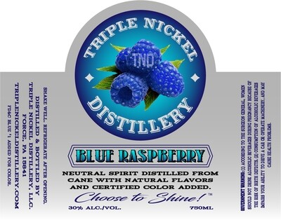 Blue Raspberry- 750ml