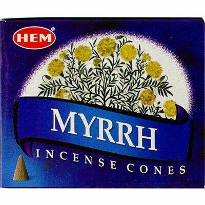 Hem cone Incense Myrrh