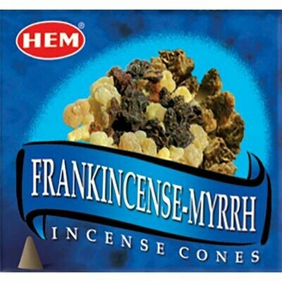 Hem Cone incense frankincense & myrrh