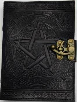 Black Pentagram Leather Journal