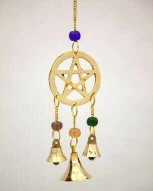 Brass pentagram w/ bells (IA) BS374