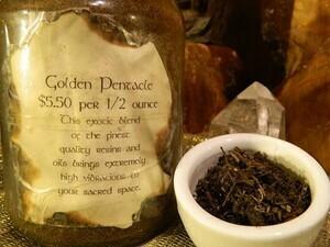 Golden Pentacle Incense 1/2 oz