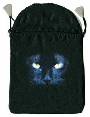 Black Cat Satin Bag
