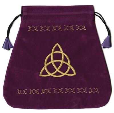 Triple Goddess Velvet Tarot Bag