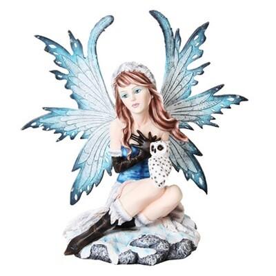 Fairy w/ white owl statue