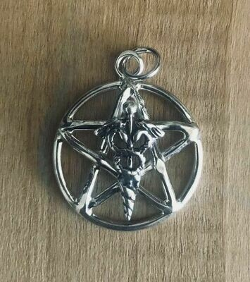 Pentagram pendant Caduceus (CT)
