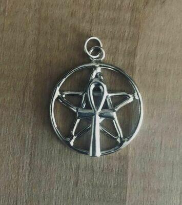 Pentagram pendant Ankh (CT)