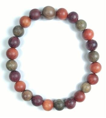 Dragon blood, purpleheart & verawood pray bracelet