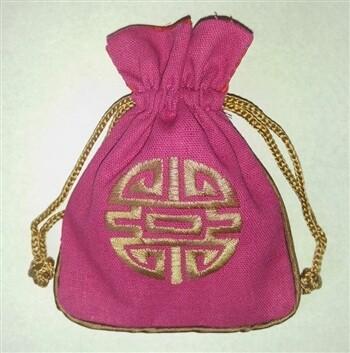 Linen Mala Bag Magenta