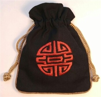 Linen Mala Bag Black