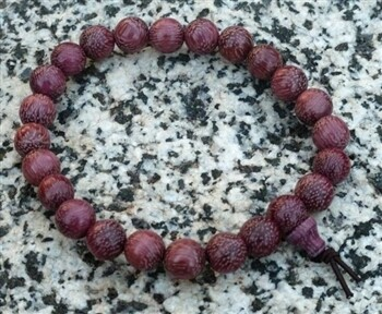 Purpleheart wood wrist mala