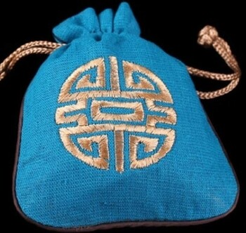 Linen Mala Bag Turquoise