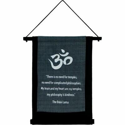 Dalai Lama Sm Cotton Banner
