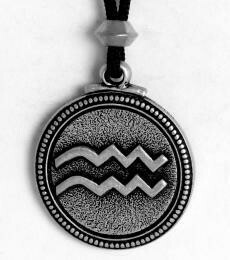 Aquarius pendant - pewter