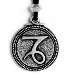 Capricorn pendant - pewter