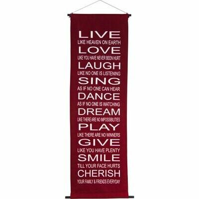 Live, Love Banner Scroll