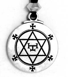 Hexagram of solomon - pewter