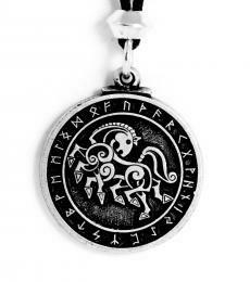 Odin's horse Sleipnir pendant pewter