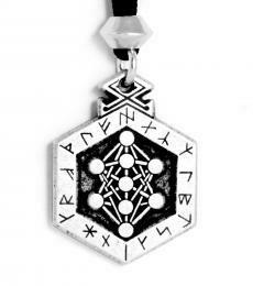 Odin's Runes pendant pewter