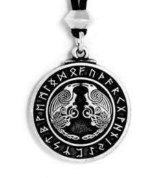 Odin's Ravens pendant pewter