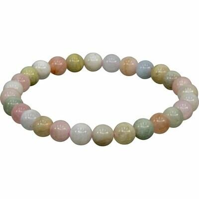 Morganite Stone Bead Bracelet