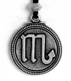 Scorpio pendant - pewter