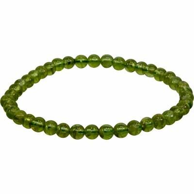 Peridot Stone Bead Bracelet