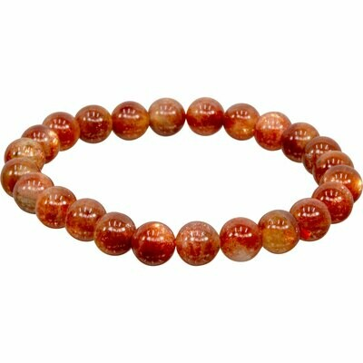 Sunstone Stone Bead Bracelet