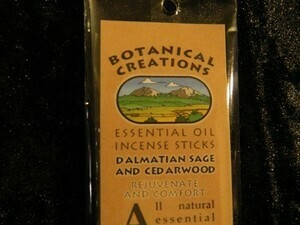 Botanical Creations Dalmation sage + cedarwood