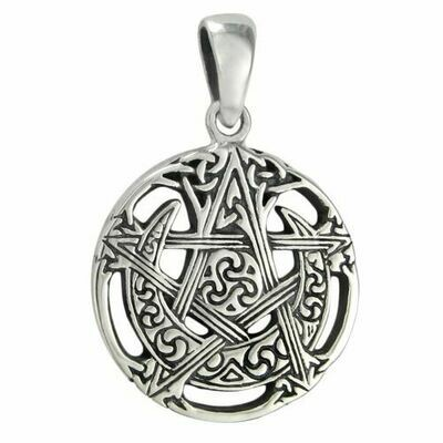 Cut out moon pentacle pendant sm (MM) tpd209