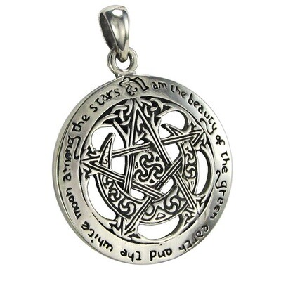 Moon pentacle cut out pendant (MM) tpd206