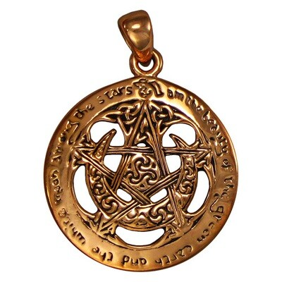 Moon Pentacle pendant cut out copper (MM) CPD206