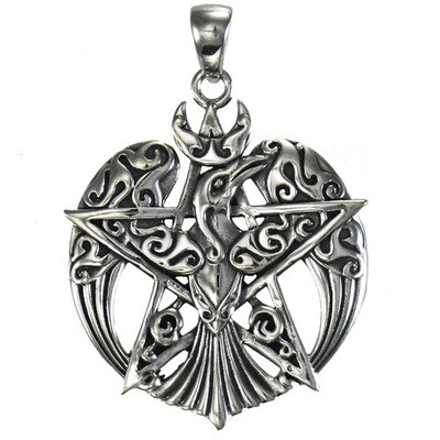 Raven crescent pentacle LG (MM) tpd878