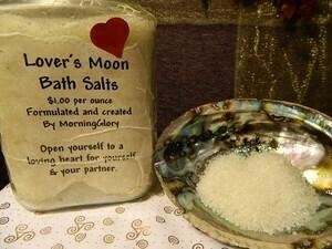 Lovers moon bath salt 5 oz