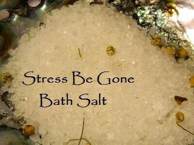 Stress be gone bath salt 5 oz