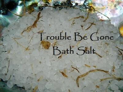 Trouble be gone bath salt 5 oz