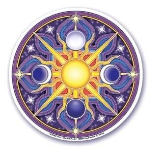 Celestial mandala window sticker