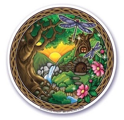 Enchanted forest sticker