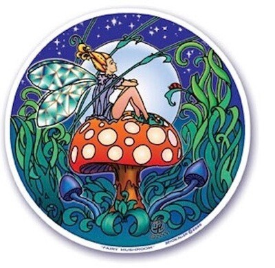 Fairy mushroom window sticker
