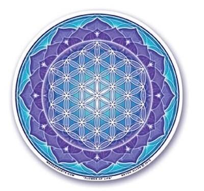 Flower of life window sticker (MA) S56