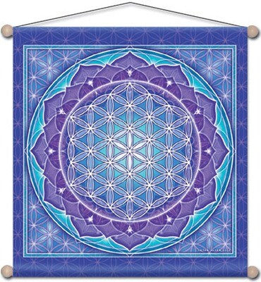 Flower of life meditation banner 14x15