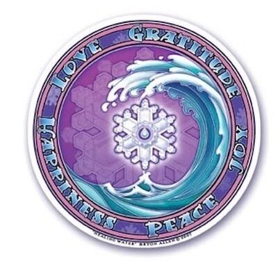 Healing Water window sticker