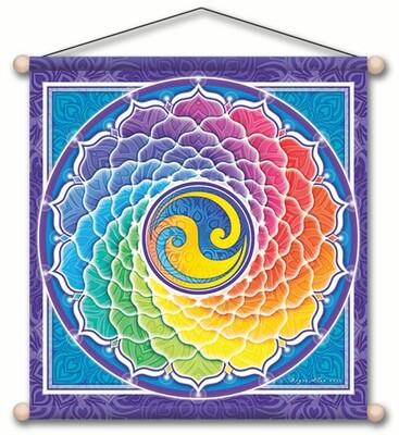 Rainbow spiral banner 14 x 15