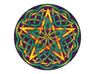 Celtic pentagram sticker