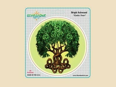 Celtic tree sticker