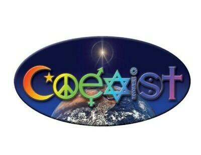 Earth coexist sticker