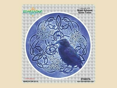Raven Totem window sticker