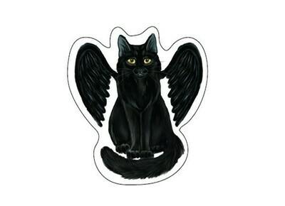 Raven Wings window sticker