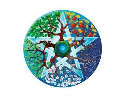 Seasons pentagram sticker